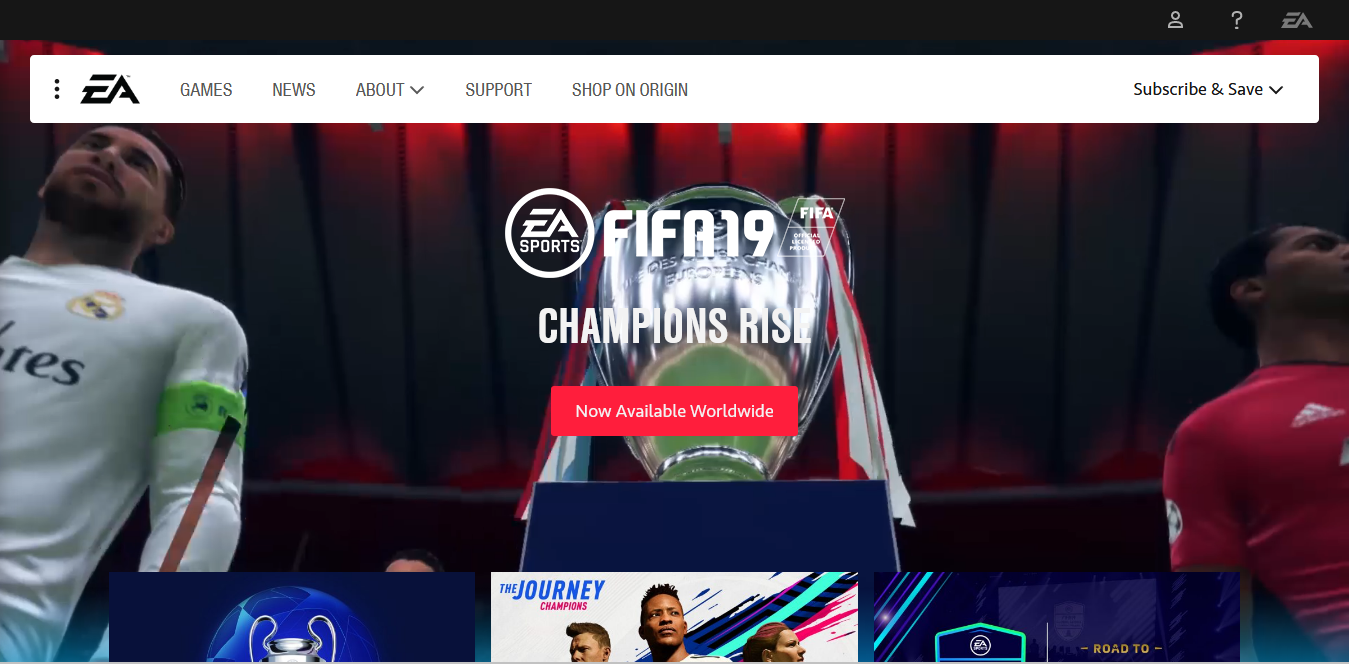 Screenshot 2018 10 15 Electronic Arts Home Page Official EA Site - The 5 Very Best Video Gaming Companies of All Time