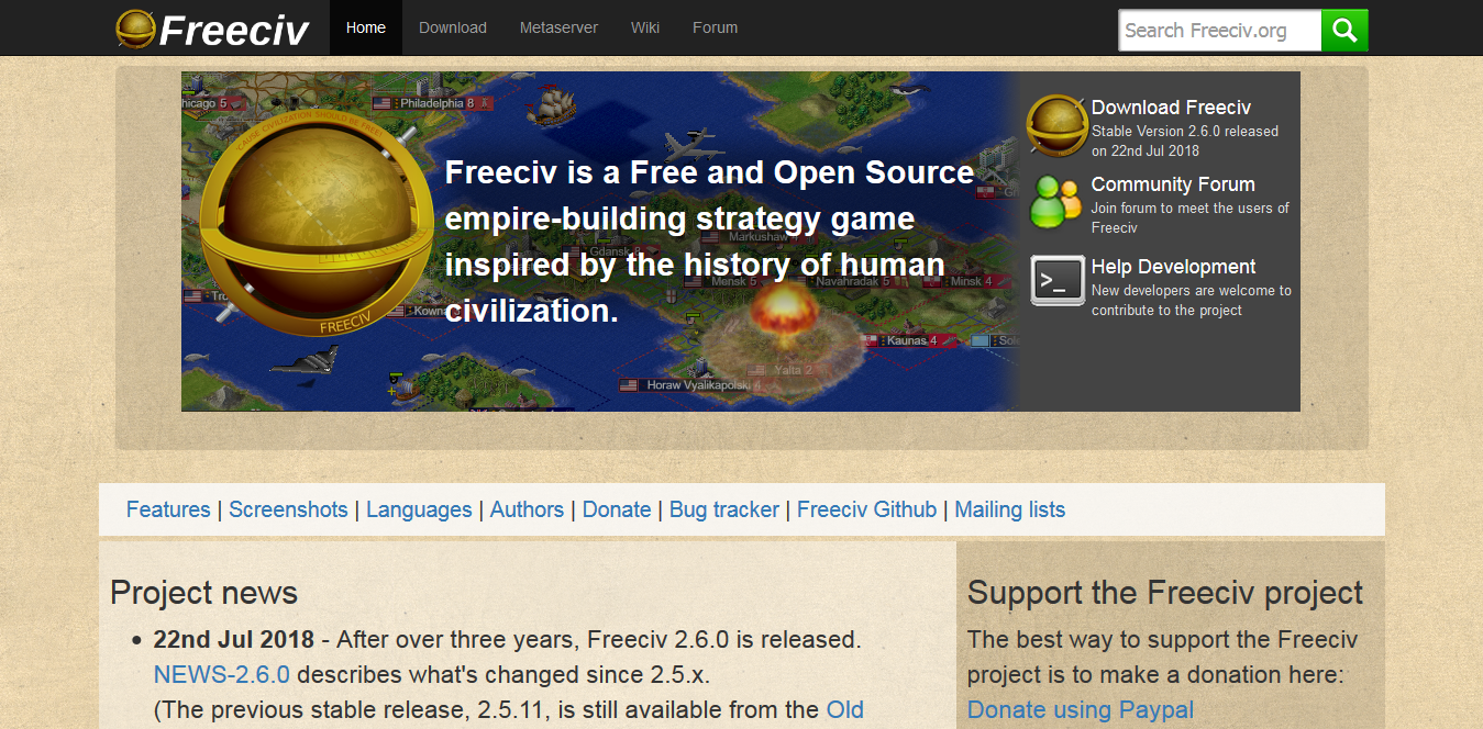 Screenshot 2018 10 14 Freeciv org open source empire building strategy game  - You Have to Check Out These Top 7 Free PC Games