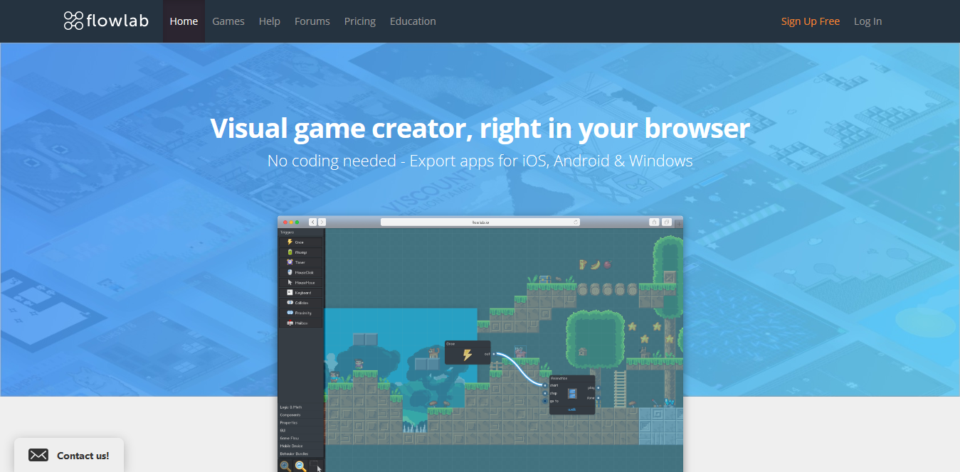 Screenshot 2018 10 14 Flowlab Game Creator Make games online - 6 Of the Best Video Gaming Tools for Creating Your Own Game